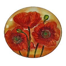 Continental Art Center Inc - 18\  Red Poppy Flowers Plate - Decorative Plates  sc 1 st  Houzz & Most Popular Contemporary Decorative Plates for 2018 | Houzz