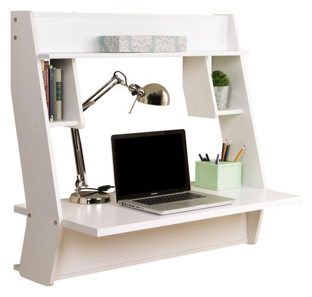 Studio Floating Desk Contemporary Desks And Hutches