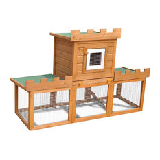 VidaXL Outdoor Large Rabbit Hutch House Pet Cage, Single