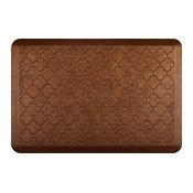 WellnessMats Estates-Shade of Gold, Trellis Anti-Fatigue Mat, 3'x2', Copper Leaf