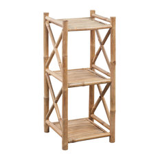 vidaXL Bamboo Shelf 3 Tiers Display Shelving Unit Rack Stand Organizer Storage