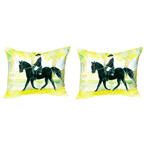 Racing Horse Indoor Outdoor Pillow Traditional Outdoor Cushions And Pillows By Betsy Drake Interiors