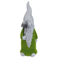 """14"""" Moss Covered Gnome with Shovel Garden Statue"""