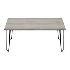 Lavish Home Coffee Table With Hairpin Legs-Modern Furniture