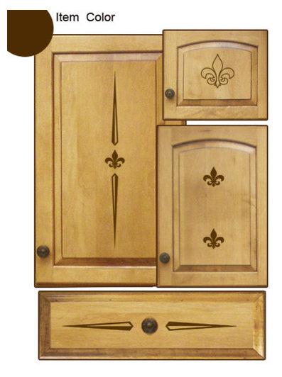 Kitchen Cabinet Decals - Fleur Theme - Contemporary - Wall Decals ...