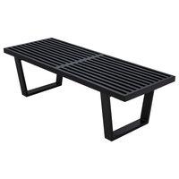Leisuremod Mid-Century Inwood Platform Bench