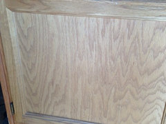 Staining oak cabinets with gel stain - but cabinet sides ...
