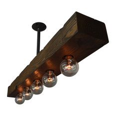 west ninth vintage recessed 5light wood beam kitchen island lighting
