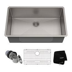 "KRAUS Standart PRO 32"" 16 Gauge Undermount Single Bowl Stainless Steel Sink"