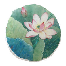 "1 Pack Chinese Characteristics, Lotus, 17.7""x17.7"" Chair/Seat Cushion Pad, A4"