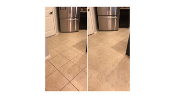 Grout and tile clean and color seal.