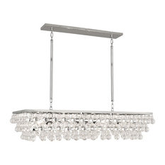 Robert Abbey Bling Rectangular Chandelier, Silver