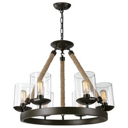 Industrial Chandeliers by LNC Lighting