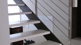 лестница на тетиве беленый дуб