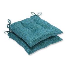 Remi Patina Wrought Iron Seat Cushion, Set of 2, Blue