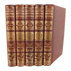 Designer Leather Books, Set of 5
