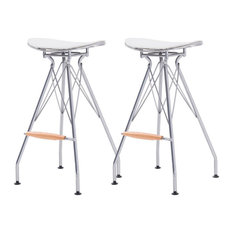Yara Metal Bar Stool Set Of 2 North White Cushion