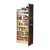 """14""""x58"""" Wood Pantry With Slide"""