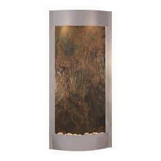 Pacifica Waters Indoor Water Fountain, Multi-Color Featherstone, Silver Metallic
