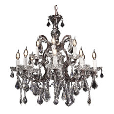 "Maria Theresa Rococo Crystal Chandelier, Rustic, W 30"" / D 30"" / H30"" / 26 Lbs."