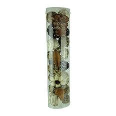 Green Beige & Brown Natural Mixed Material Decorative Balls