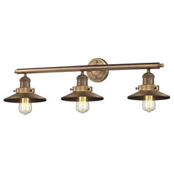 Best Industrial Bathroom Vanity Lighting Railroad Shade Light Wall Bracket Fixture