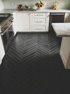 Has Anyone Used 6 X 24 Porcelain Floor Tiles In Herringbone Pattern