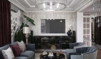Интерьер четырехкомнатной квартиры в слиле американской классики