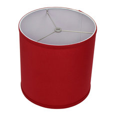 """FenchelShades Drum Lampshade, Linen Rich Red 10""""x10""""x10"""""""