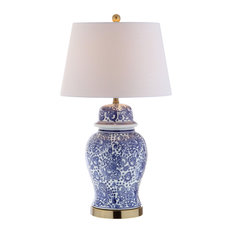 "Ellis 29.5"" Ceramic Table Lamp, Brass Gold"