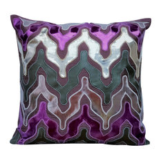 """Purple Throw Pillow Covers 16""""x16"""" Faux Leather, Purple Lava"""
