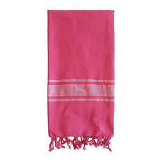 Turkish Towel Ibiza Weave, Fuchsia