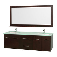 Modern Double Sink Bathroom Vanity Set