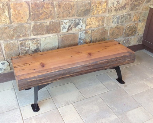 Reclaimed Wood Bench by Stone Wood n Steel - Indoor Benches