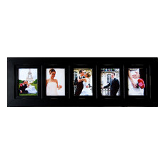 mybarnwoodframes collage picture frames wood frame with 5 openings 4x6 picture frames