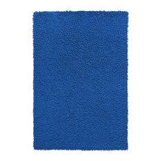 "Shagadelic Chenille Twist 21""x34"" Rug, Neon Blue"