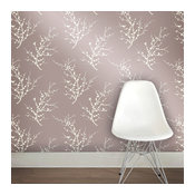 Edie, Self-Adhesive Removable Wallpaper, Champagne, 56.37 Sq. ft.