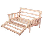full size futon sofa bed lounger frame unfinished solid wood