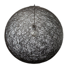 Nuevoliving - String Pendant Lamp, Black, 30