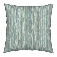 Stripe Texture Scribble Stripes Dots Abstract Throw Pillow Cover Linen Cotton