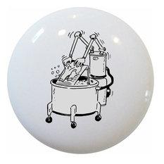 Robotic Washing Machine Ceramic Cabinet Drawer Knob