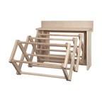 Handmade Amish Maple Folding Drying Rack Wall Unit, 25.5""