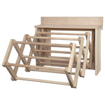 "Amish Handmade - Handmade Amish Maple Folding Drying Rack Wall Unit, 25.5"" - amish handmade"