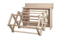 "Handmade Amish Maple Folding Drying Rack Wall Unit, 25.5"""