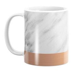 Society6 Carrara Italian Marble Holiday Rose Gold Edition Mug