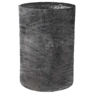 Modular Cylinder Planter, Charcoal, 15x15x18, Without Drainage Hole