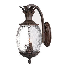 "Acclaim Lighting 7502 2 Light 18""H Pineapple Outdoor Wall Sconce - Black"