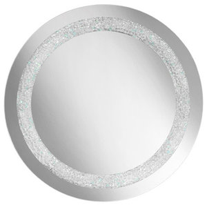 Sillux Narciso LED Mirror With Crystal Frame, 70x70 cm