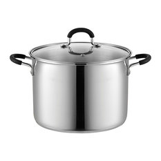 Cook N Home 02440 Stockpot Saucepot with Lid Induction Compatible, 8 quart