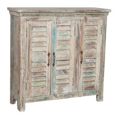 Recycled Wood 3-Door Cupboard, Antique